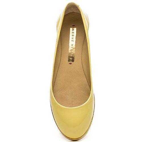 Лаковые балетки Modus Vivendi желтого цвета, фото