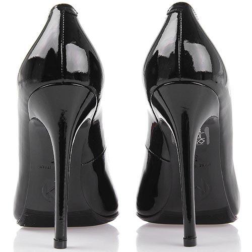 Туфли лодочки Nando Muzi черного цвета лаковые, фото