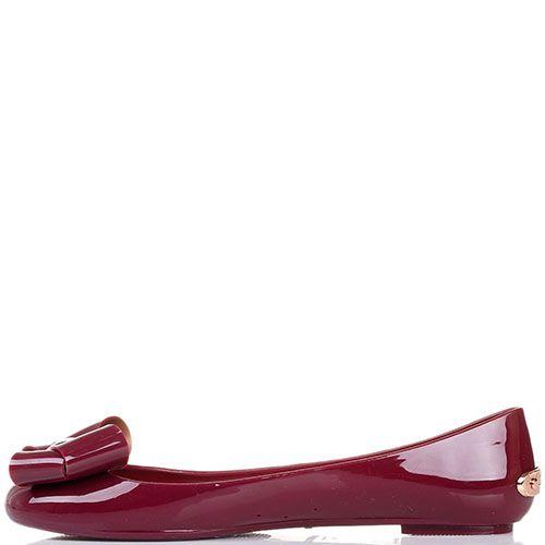Балетки Ted Baker с брендированными металлическими деталями цвета бордо, фото
