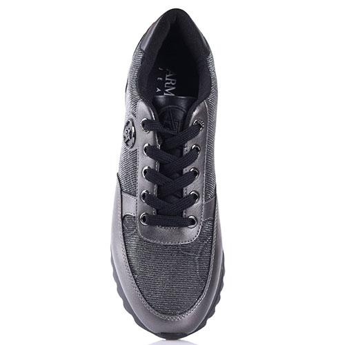 8538eac317fe ☆ Серые кроссовки Armani Jeans на рельефной подошве 925014-7a674 ...