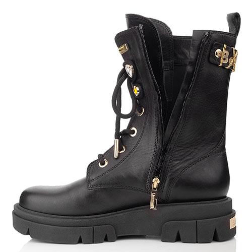 Высокие ботинки Baldinini на шнуровке и молнии, фото