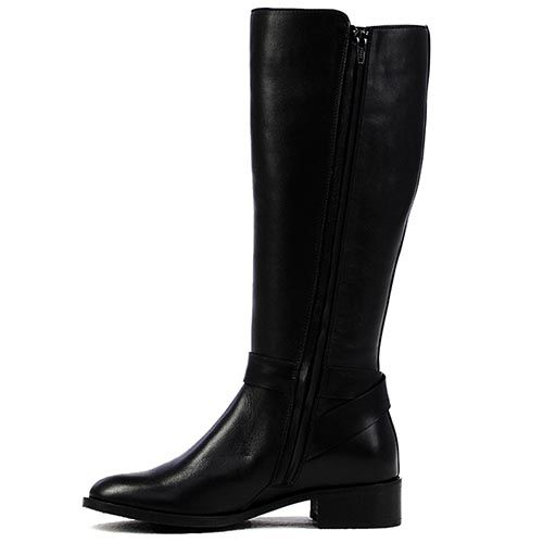 Сапоги женские Modus Vivendi черного цвета без каблука, фото