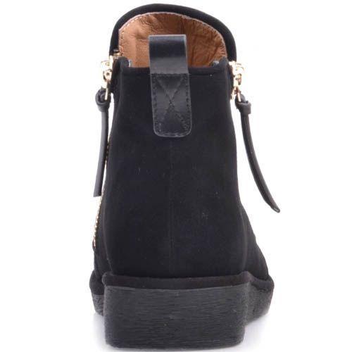 Ботинки Prego замшевые с молниями и кожаной вставкой, фото