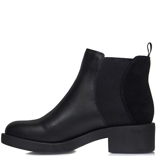 Ботинки Prego из кожи черного цвета на толстой подошве, фото
