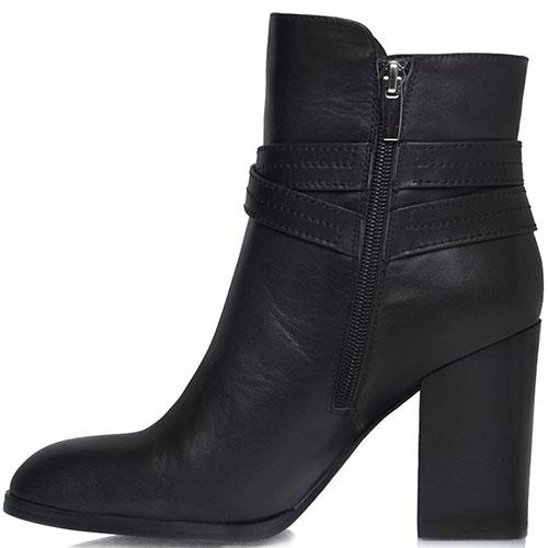 Высокие ботинки Prego из натуральной кожи черного цвета с ремешком, фото