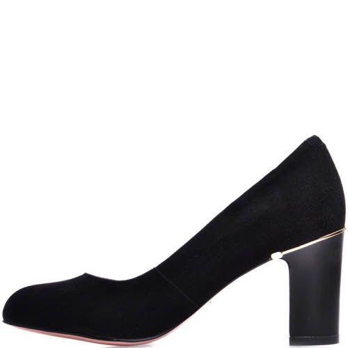 Туфли Prego замшевые с круглым носком и металлической вставкой, фото