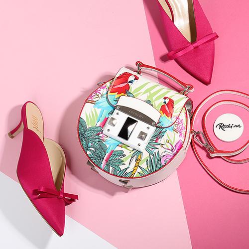 Розовые мюли Ovye by Cristina Lucchi с декором-бантом, фото