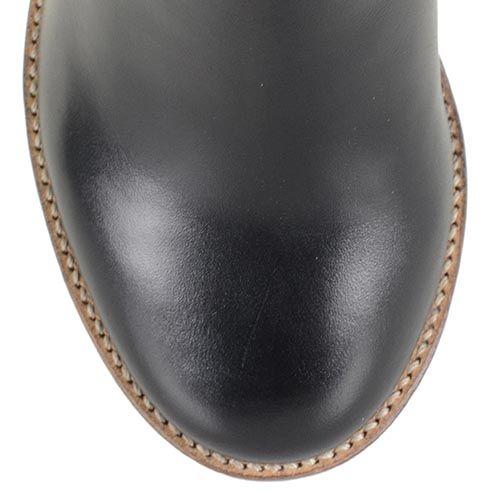 Женские осенние сапоги Armani Jeans черные кожаные на танкетке, фото