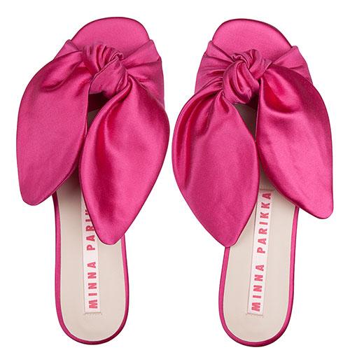 Шлепанцы Minna Parikka с ушками розового цвета, фото