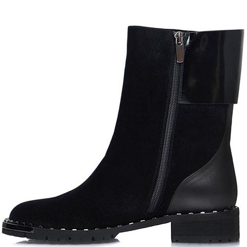 Высокие замшевые ботинки Prego черного цвета, фото