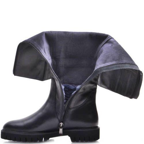 Сапоги Prego зимние кожаные с прямой рельефной подошвой, фото