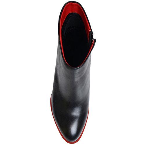 Кожаные ботильоны Prego черного цвета, фото