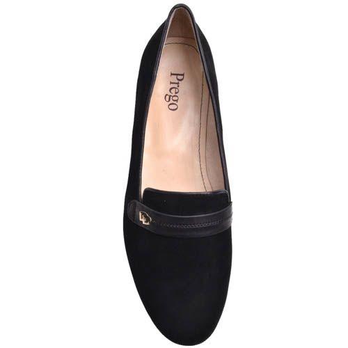Туфли Prego женские замшевые с кожанной декоративной перемычкой, фото