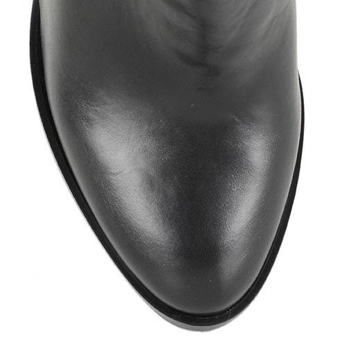 Черные сапоги Bianca Di кожаные со стрейчевой вставкой сзади, фото