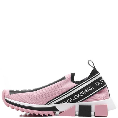 Розовые кроссовки Dolce&Gabbana на рельефной подошве, фото