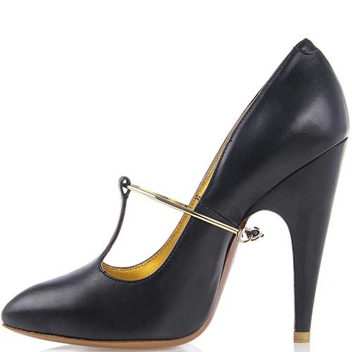 Женские туфли Giordano Torresi Corallo из кожи с золотистым декором, фото