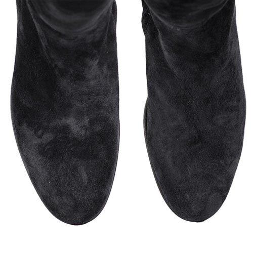 Сапоги The Seller JD зимние черного цвета замшевые на меху, фото