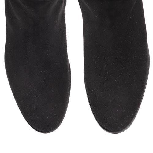 Сапоги The Seller JD зимние замшевые черного цвета на меху, фото