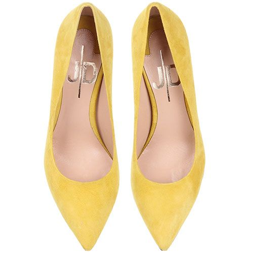 Туфли-лодочки The Seller JD из замши желтого цвета, фото