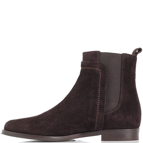 Замшевые ботинки на резинках The Seller JD коричневого цвета , фото