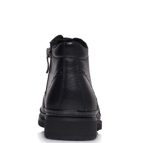 Ботинки-броги Prego из кожи черного цвета, фото