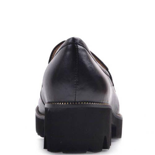 Лоферы Prego черного цвета с толстой подошвой, фото