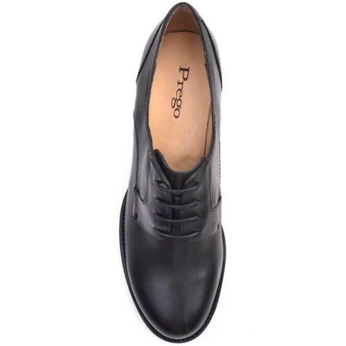Ботинки Prego осенние черного цвета по щиколотку на толстом каблуке, фото