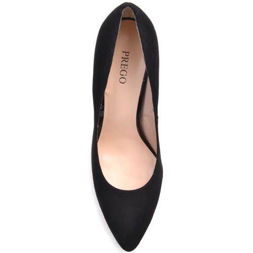 Туфли-лодочки Prego замшевые черного цвета, фото