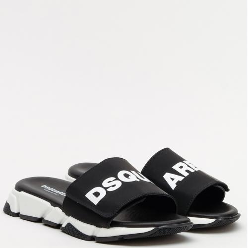 Шлепанцы Dsquared2 черного цвета, фото