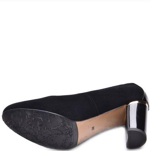 Туфли Prego замшевые с круглым носком и лаковой вставкой на пяточке, фото