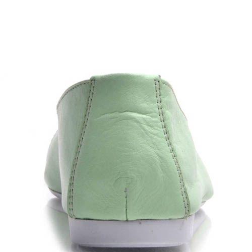 Туфли Prego со шнуровкой мятного цвета кожаные, фото