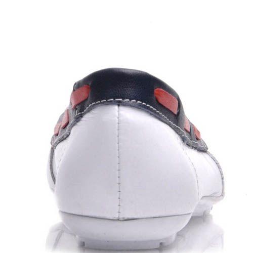 Топсайдеры Prego женские белого цвета кожаные, фото