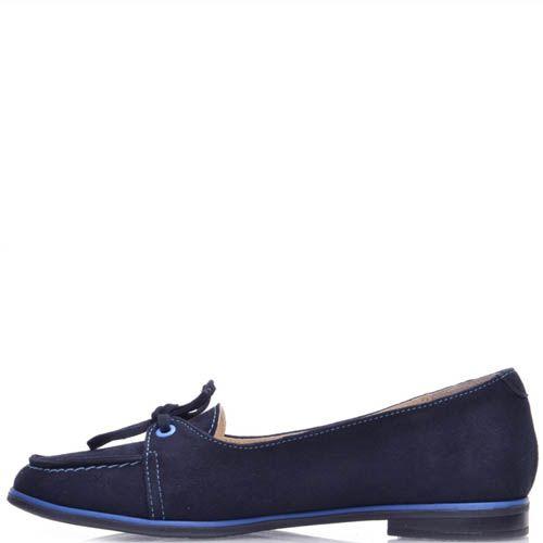 Мокасины Prego женские синие замшевые, фото