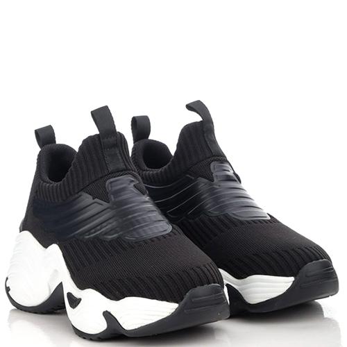 Женские кроссовки Emporio Armani с брендовой аппликацией, фото