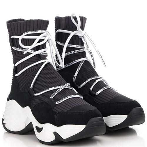 Кроссовки-чулки Emporio Armani на массивной подошве, фото