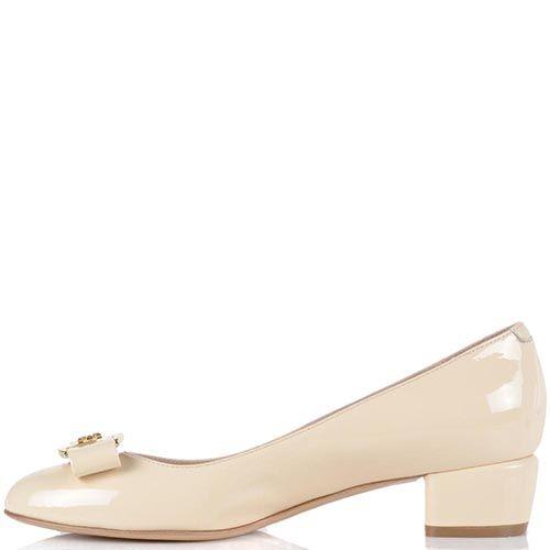Туфли Essere кожаные лаковые светло-бежевые, фото