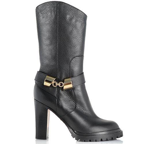 Демисезонные женские ботинки Giorgio Fabiani с округлым верхним срезом на устойчивом каблуке, фото