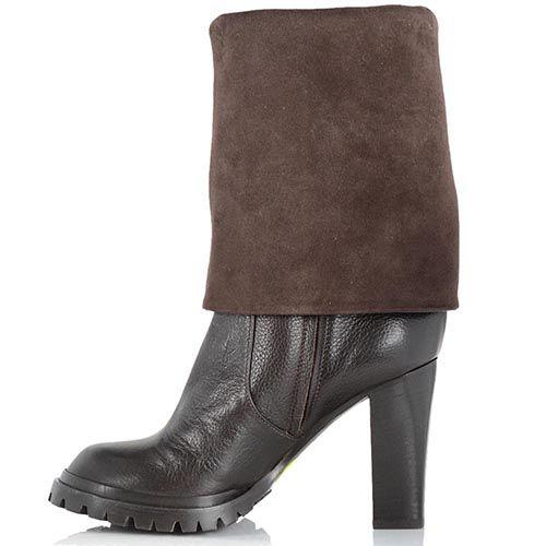 Женские ботинки-трансформеры Giorgio Fabiani шоколадного цвета, фото
