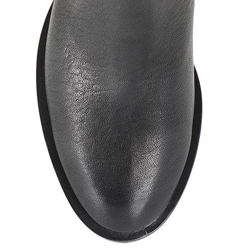 Женские сапоги Giorgio Fabiani черно-серого цвета с вертикальной стежкой, фото