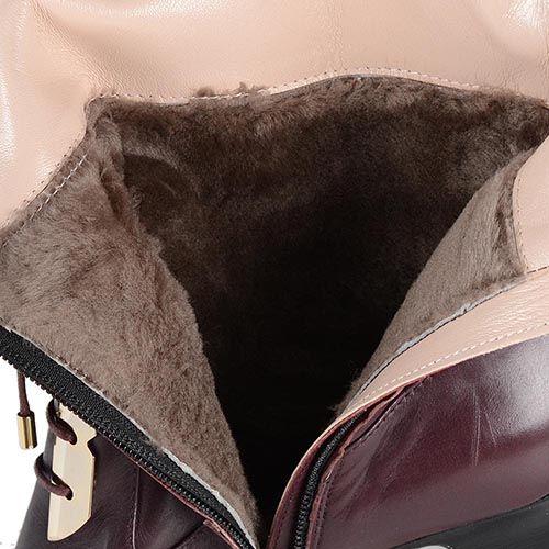 Женские сапоги Giorgio Fabiani из полированной кожи бордового цвета, фото