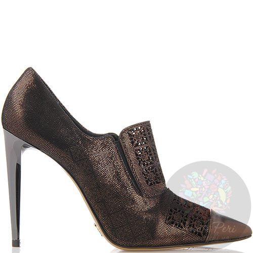 Женские туфли FABI с острым носочком брозового цвета, фото