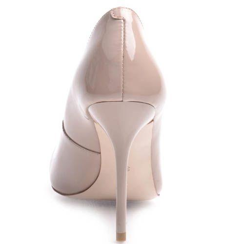 Туфли-лодочки Prego лаковые бежевого цвета на шпильке, фото