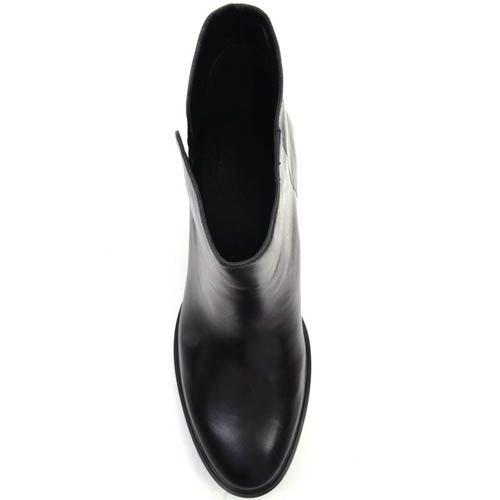 Ботинки Prego из гладкой кожи с коротким прямым голенищем, фото