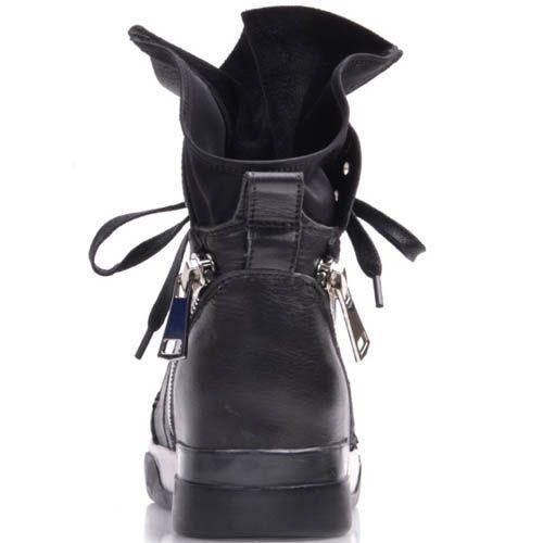 Сникерсы Prego кожаные с заклепками и молнией, фото