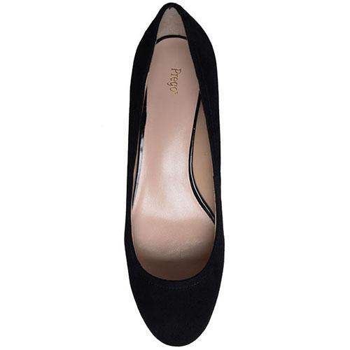 Замшевые туфли Prego на устойчивом каблуке, фото