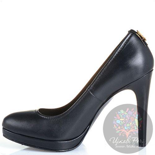 Туфли Galliano на шпильке кожаные черные, фото