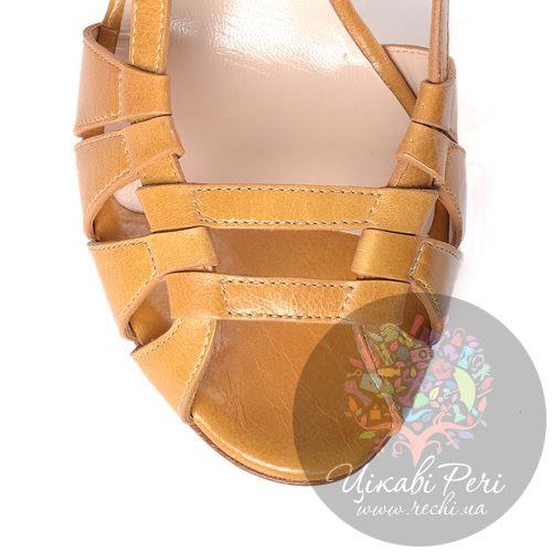 Босоножки Giorgio Armani кожаные охристые, фото