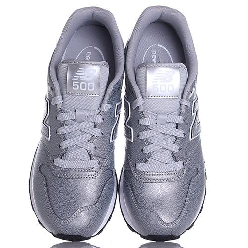 Кроссовки New Balance 500 серебристого цвета, фото