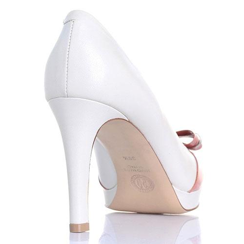 Женственные туфли Dyva на среднем каблуке с розовым бантом, фото