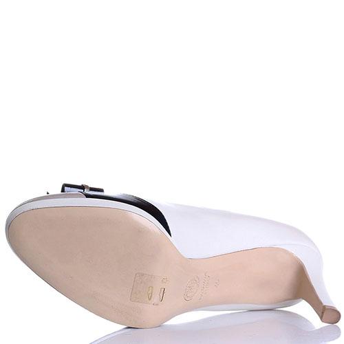 Женственные туфли Dyva на среднем каблуке с черным бантом, фото